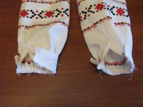 пришивание манжет к рукавам