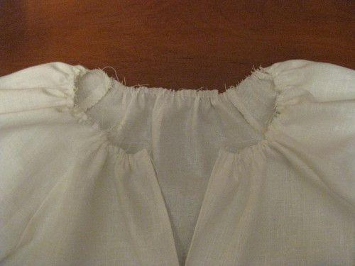 обработка горловины блузки