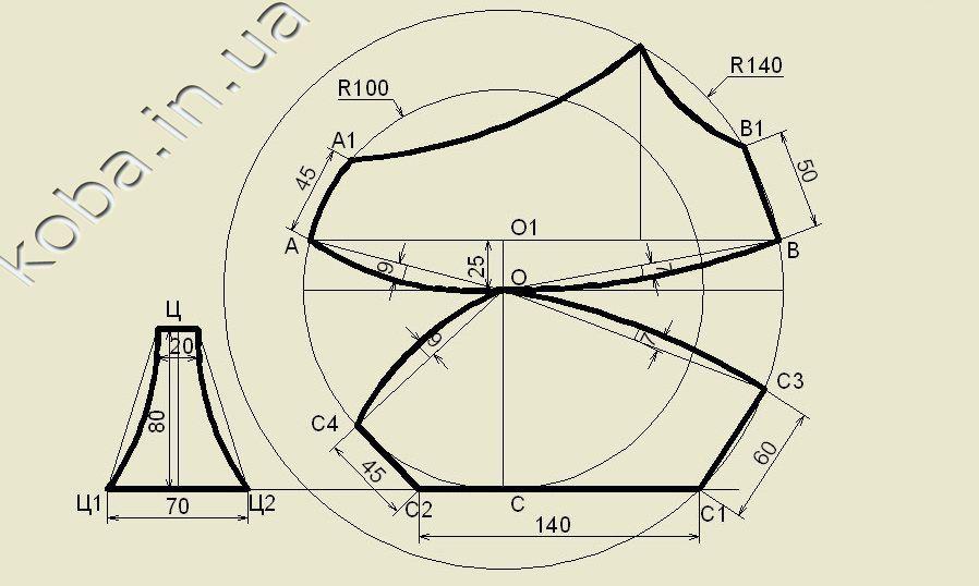 Бюстгальтер с треугольными чашечками сшить 46